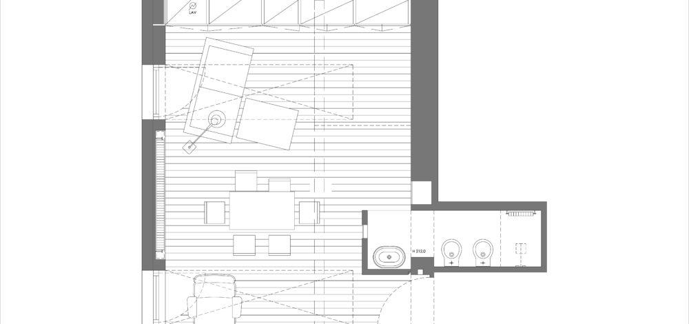 Studio Saponetti Attic Milan plan