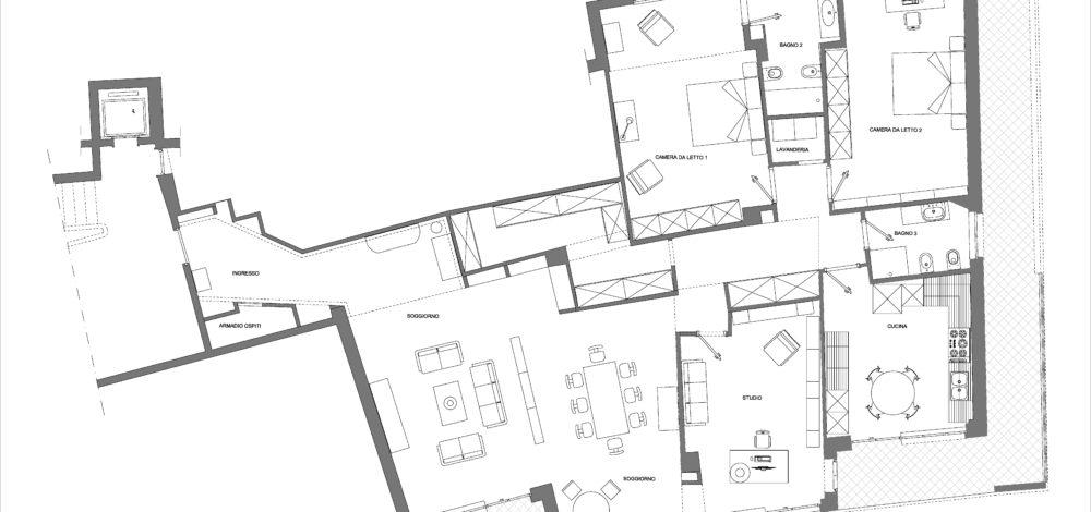 Studio Saponetti, Via Dandolo, Appartamento Lusso